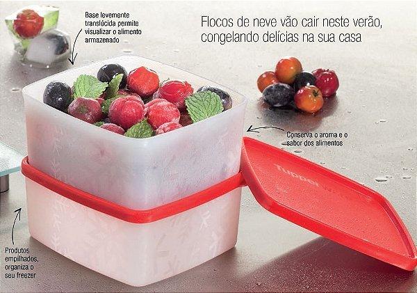 Tupperware Jeitosinho Neve 400ml Vermelho Kit 2 peças