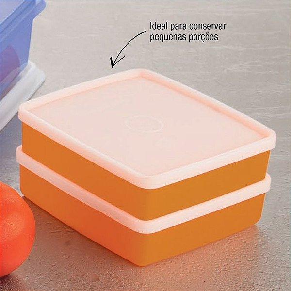 Tupperware Refri box 400ml Laranja Kit 2 peças