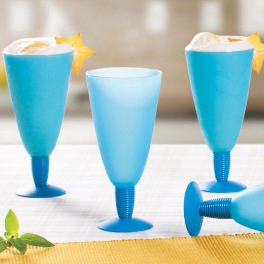 Tupperware Taça Longa Murano 500 ml Cada Azul
