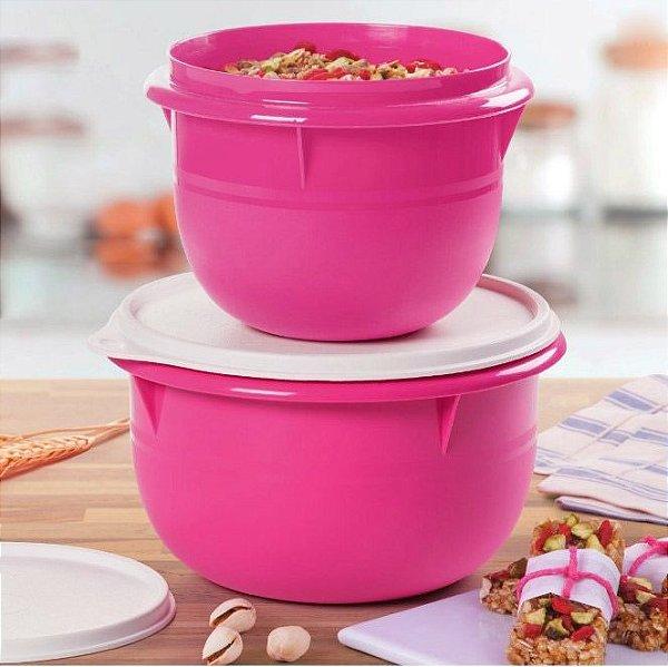 Tupperware Tigela Batedeira 1 litro + Tigela Batedeira 2 litros Rosa Pink