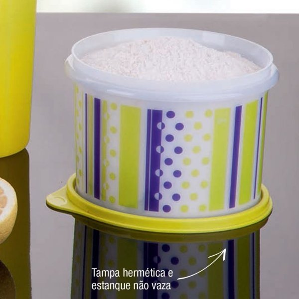 Tupperware Caixa Neon 1,1 litros Tampa Amarela
