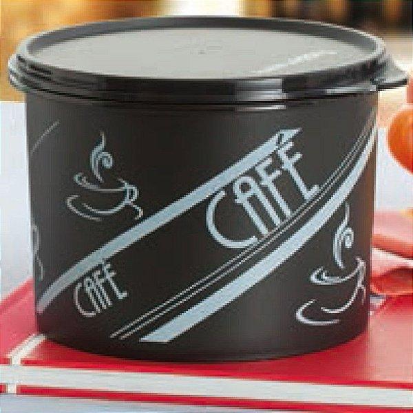 Tupperware Caixa Café P&B Retrô 1,7 Litros Preto