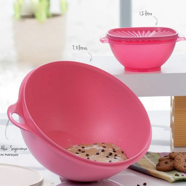 Tupperware Maxi Criativa + Tigela Sensação kit 2 peças Rosa