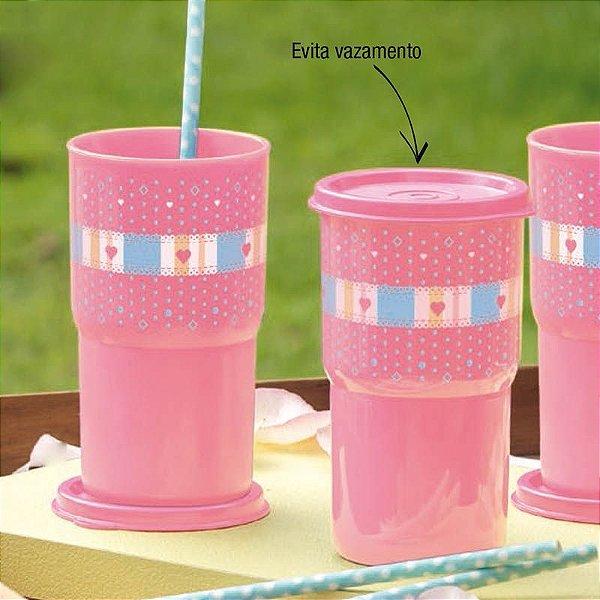 Tupperware Copo Colors 350ml Rosa Estampado