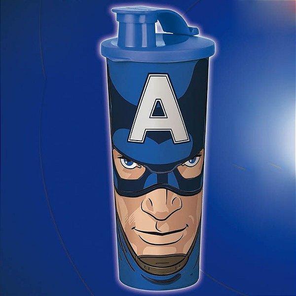 Tupperware Copo Capitão América 470ml Azul