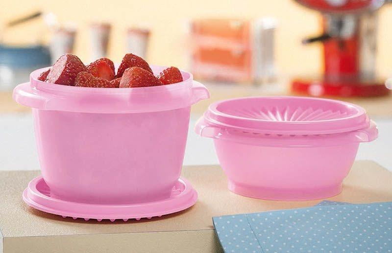 Tupperware Tigela Sensação kit 2 peças Rosa