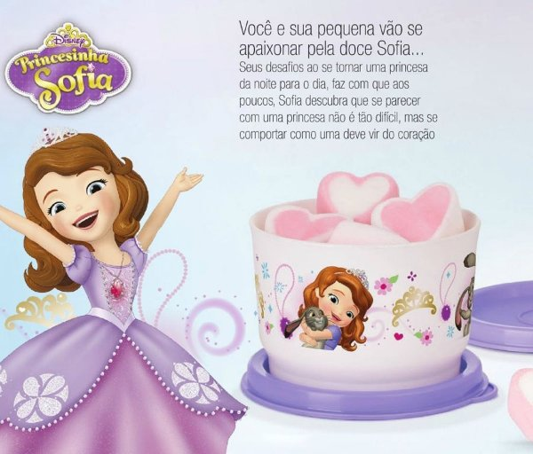 Tupperware Potinho Princesinha Sofia 140ml Roxo