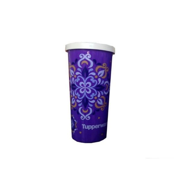 Tupperware Copo Roxo Mandala Decorado 265ml