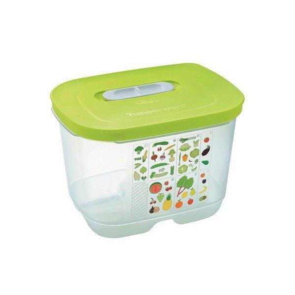 Tupperware Ventsmart Retangular 1,8 litro Transparente tampa Verde