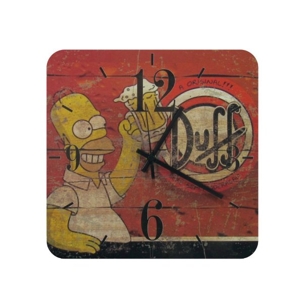 Relógio De Parede Madeira Cerveja Duff Beer Homer Simpsons