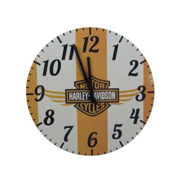 Relógio De Parede Em Madeira Harley Davidson estilo Vintage.