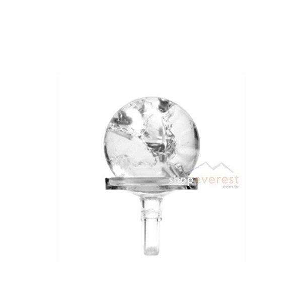 Bola de vidro com suporte para Fonte de água.