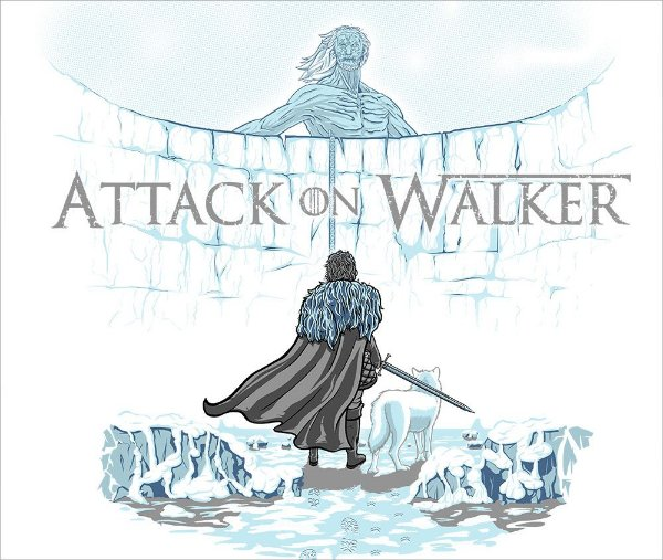 Camiseta Attack on Walker - Feminina