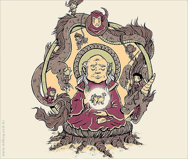Camiseta Mestre dos Budas - Feminina
