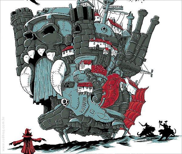 Camiseta O Castelo Animado - Feminina