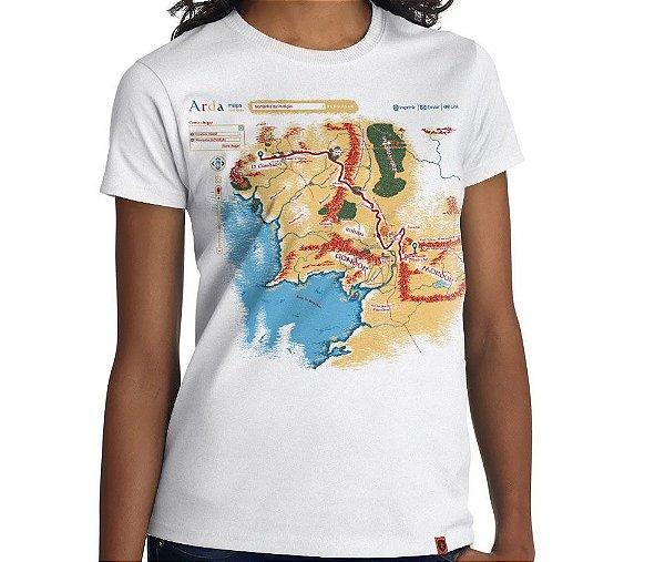 Camiseta Terra Média - Feminina
