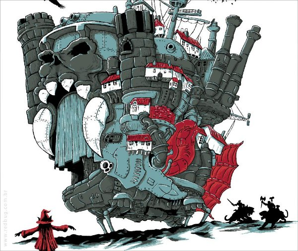 Camiseta O Castelo Animado - Masculina