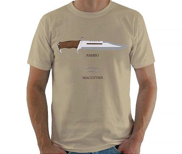 Camiseta Rambo x MacGyver - Masculina