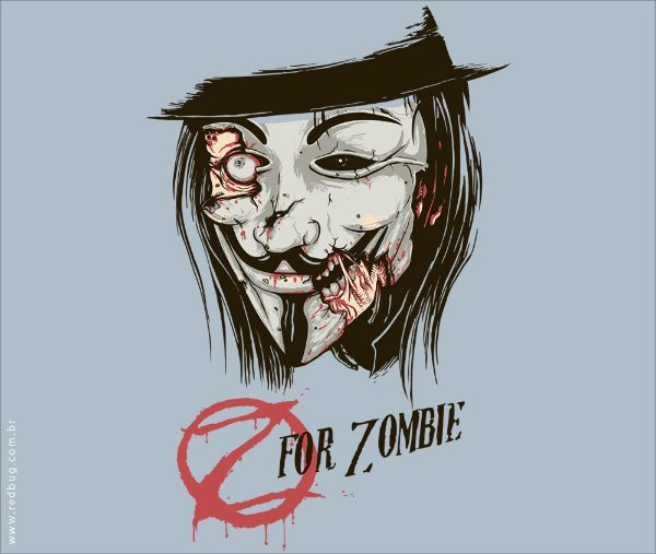 Camiseta Z for Zombie - Masculina