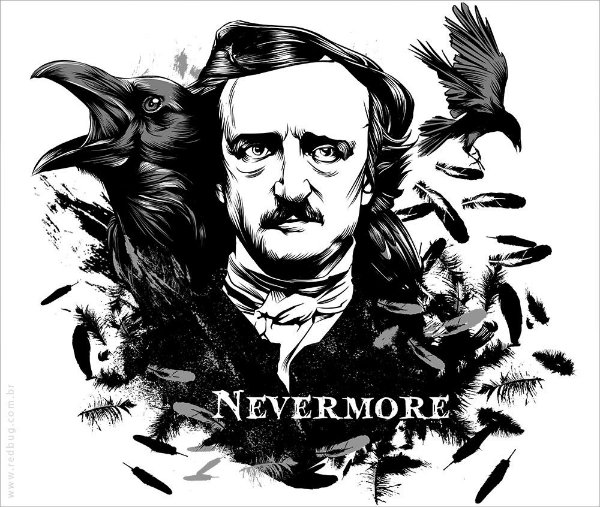 Camiseta Nevermore - Feminina