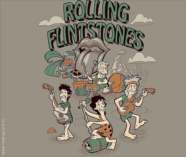 Camiseta Rolling Flintstones - Feminina