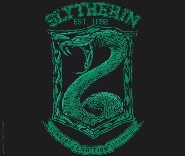 Camiseta Slytherin  - Masculina
