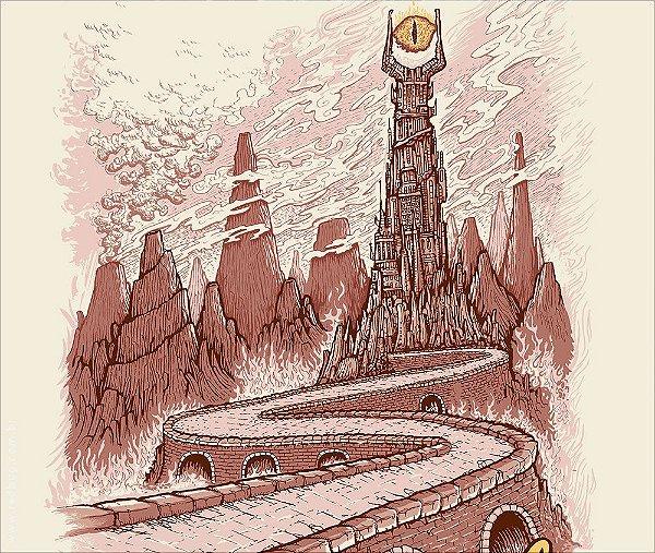 Camiseta Visit Mordor - Masculina