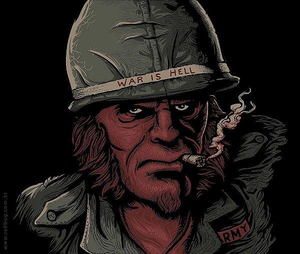 Camiseta War is Hell - Masculina