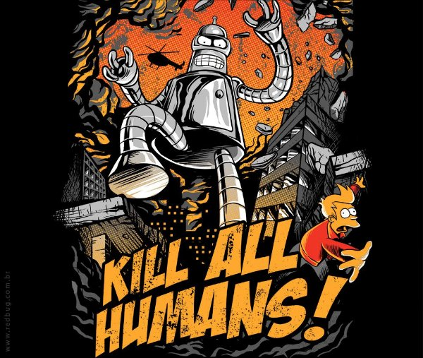 Camiseta Kill All Humans - Feminina