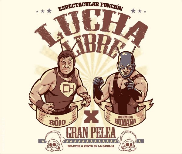 Camiseta Lucha Libre - Masculina