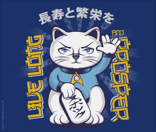 Camiseta Maneki Neko - Masculina