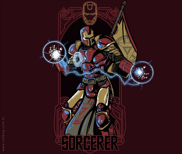 Camiseta Medieval Iron Man - Feminina