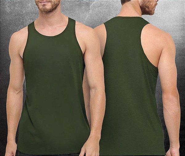 Regata básica Verde Militar - Masculina