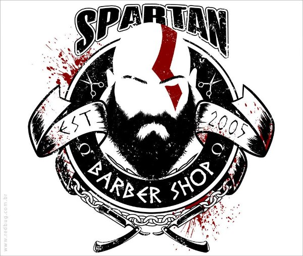 Camiseta Spartan Barber Shop - Masculina