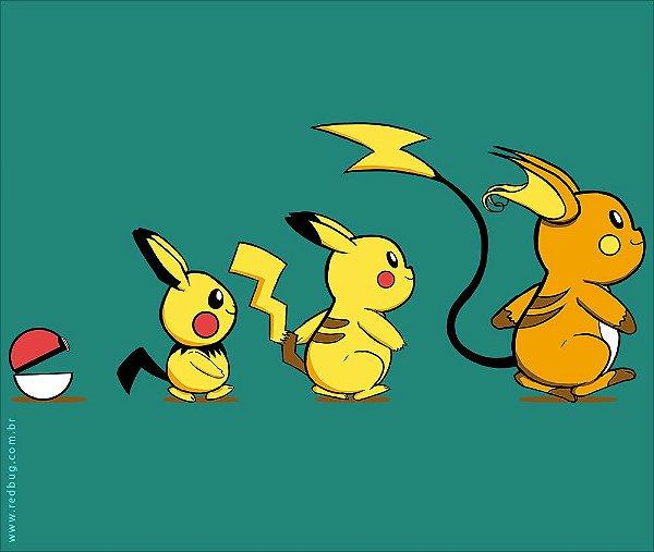 Camiseta Evolução Pokémon - Masculina