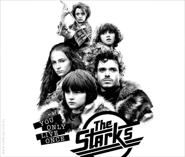 Camiseta The Starks - Feminina