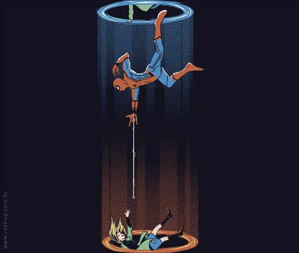 Camiseta Spider Portal - Masculina