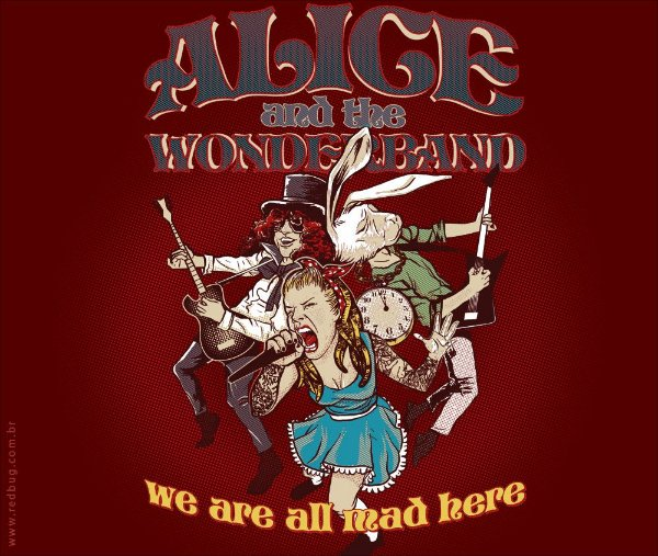 Camiseta Alice And The Wonderband - Feminina