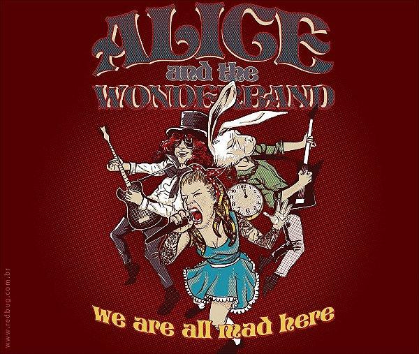 Camiseta Alice And The Wonderband - Masculina