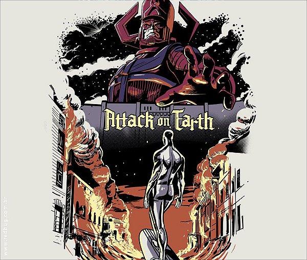 Camiseta Attack On Earth - Feminina