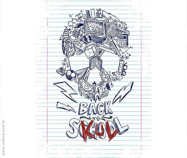 Camiseta Back To Skull - Masculina