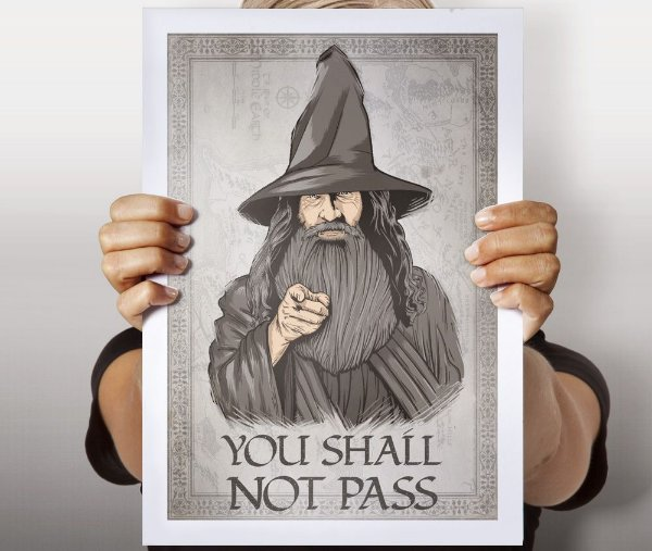 Poster You Shall Not Pass