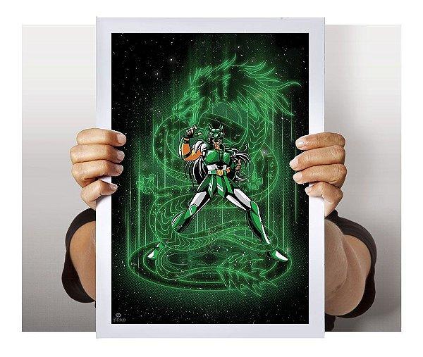 Poster Shiryu de Dragão