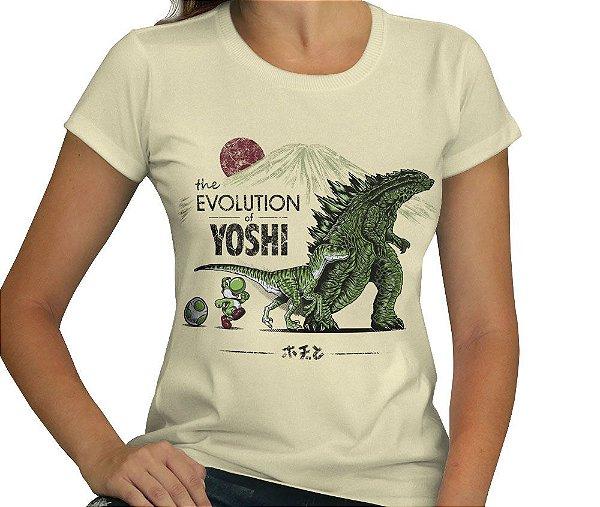 Camiseta The Evolution Of Yoshi - Feminina