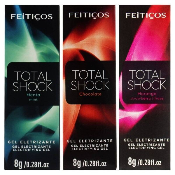 Total Shock Excitante Beijável Aromático 8gr Feitiços