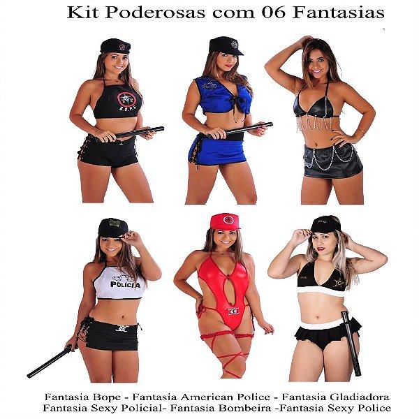 Kit Revenda Linha Poderosas 06 Fantasias