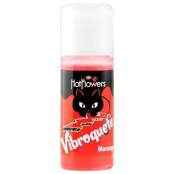 Vibroquete Gel Vibrante Morango 12gr Hot Flowers
