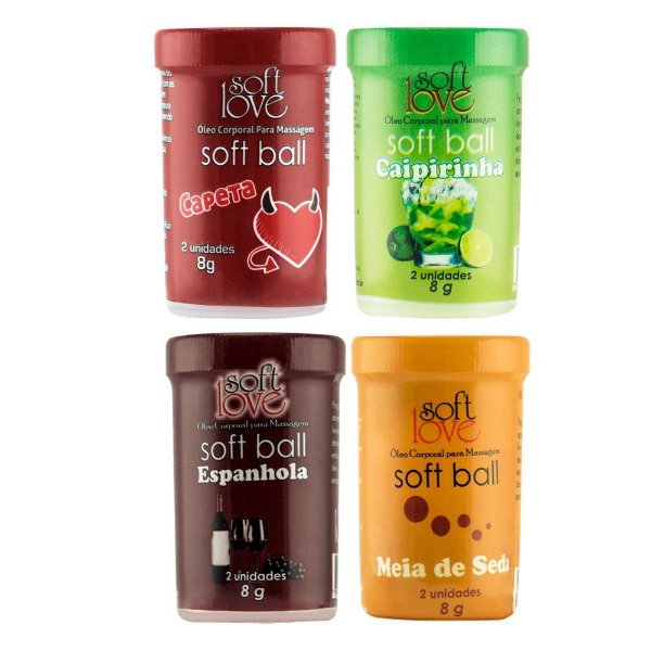 Soft Ball Bolinha Drink 8g 02 Unidades Soft Love