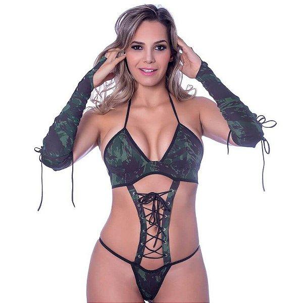 Kit Fantasia Body Militar Amareto