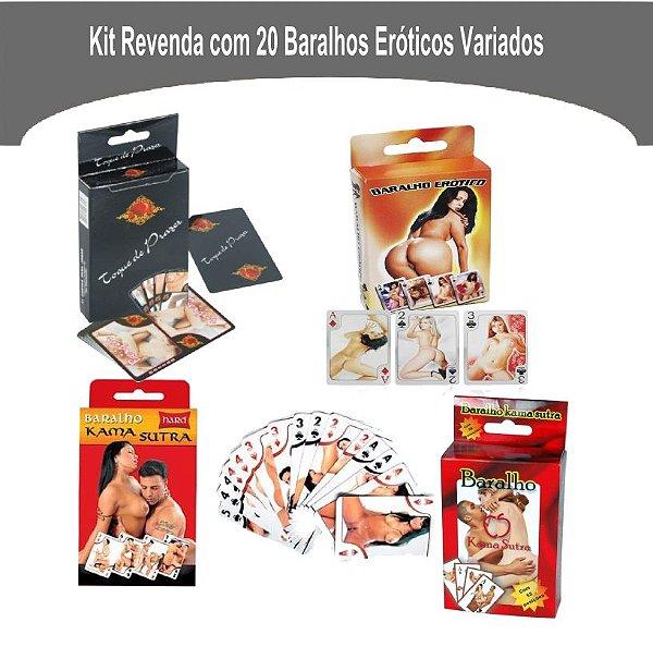Kit Revenda Com 20 Baralhos Eróticos Diversos